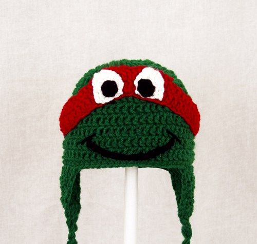 3b69edeb89c TMNT Earflap Hat in Red