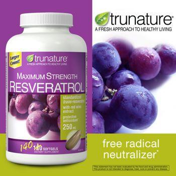 Costco Trunature Maximum Strength Resveratrol 250 Mg 140
