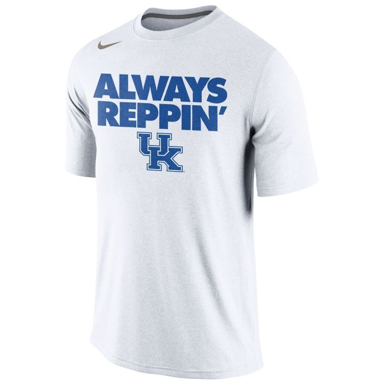 sports shoes 296dc af797 Nike Men's Kentucky Wildcats Blue Dri-FIT Replica Baseball ...