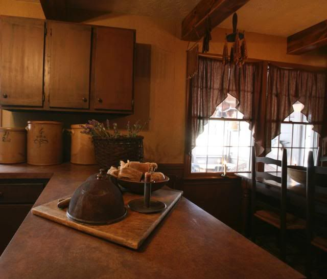 Primitive Kitchen Decor Ideas: Kitchen Counter Primitive Kitchen Decorating