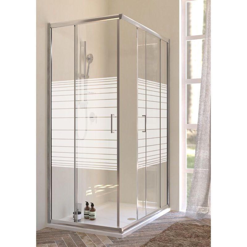 Box doccia angolare 2 porte scorrevoli cristallo 6mm