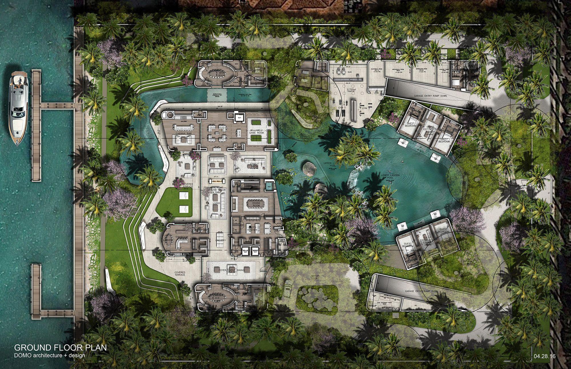 Stuart miller 39 s 40 000 sf star island miami fla u s for Miami mansion floor plans