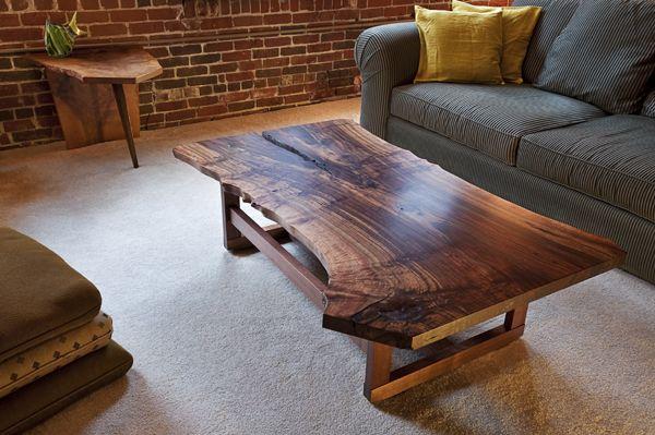 Wood slab coffee table KOFFEE TABLE Pinterest Wood slab