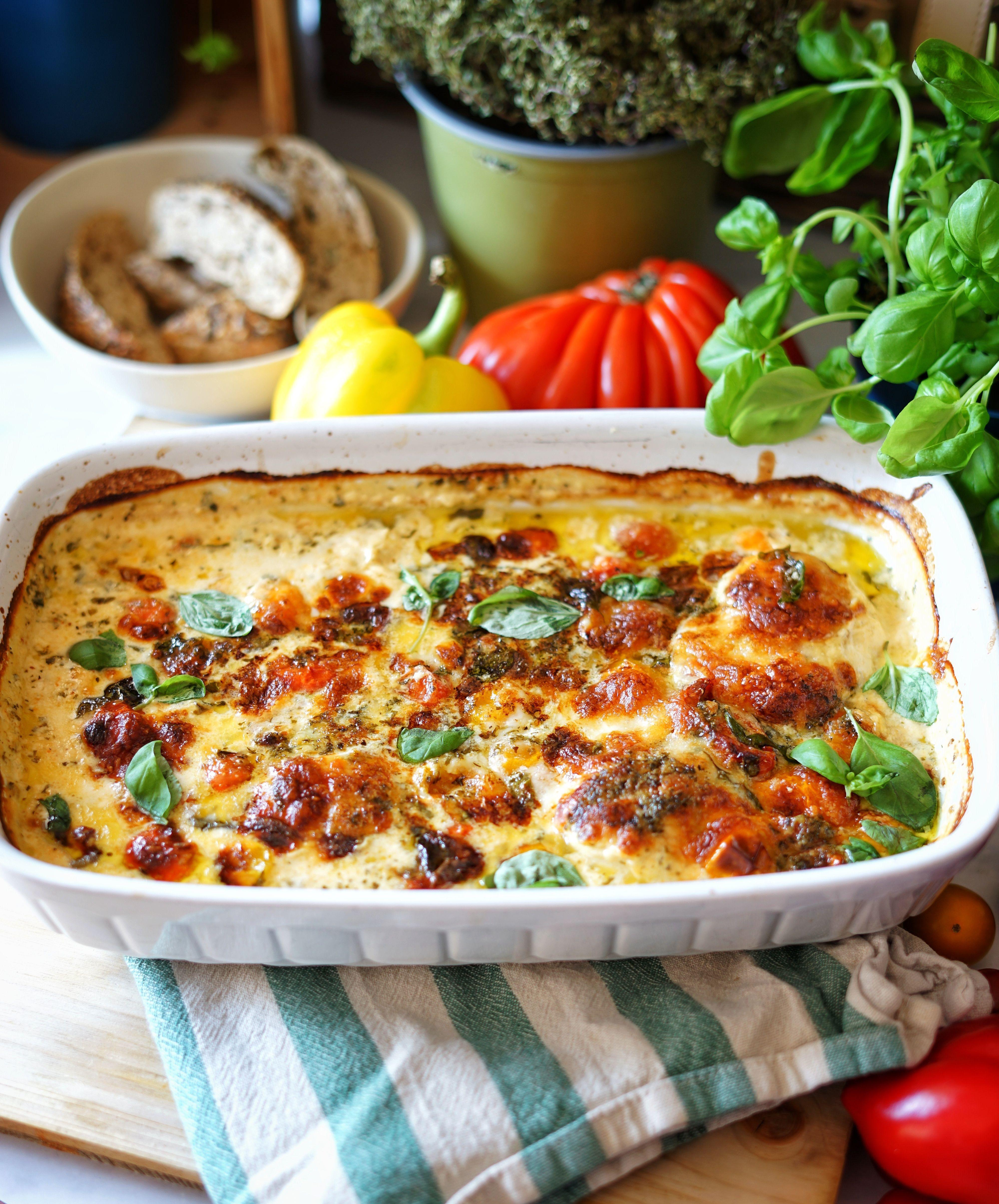 Sündhaft leckerer Hühnchen-Mozzarella-Auflauf - essen mit liebe