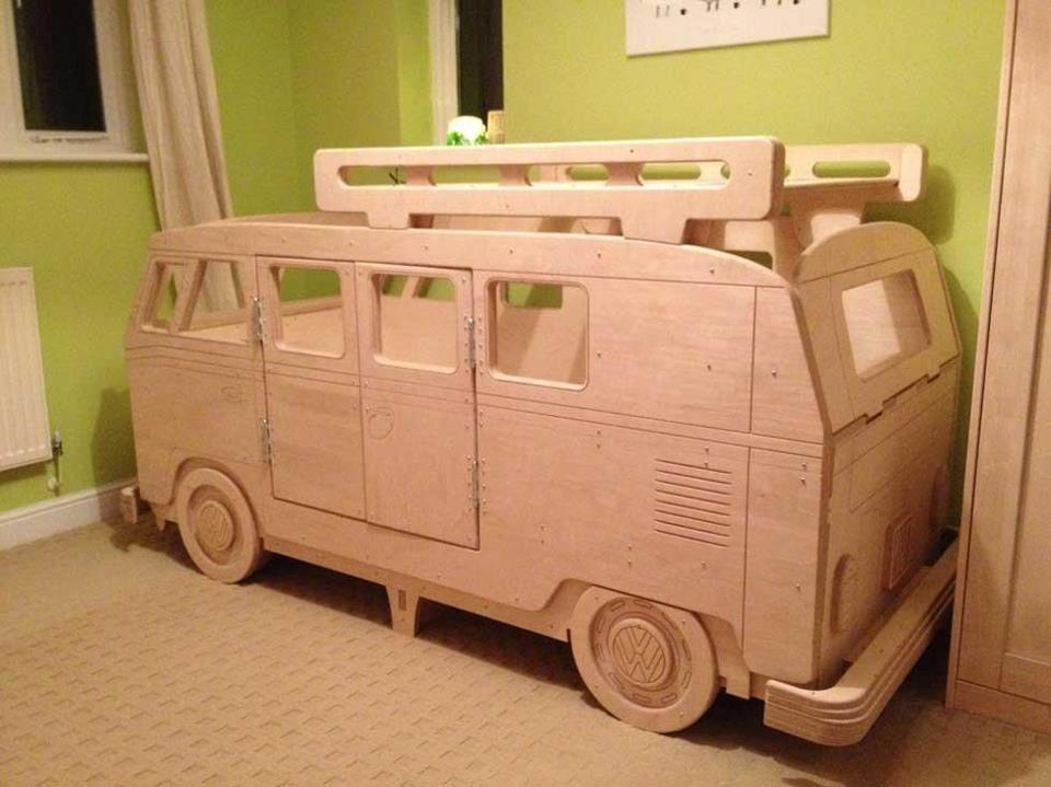 Wooden Vw Bus Bed Lastega Seotud Ideed Pinterest Vw Bus