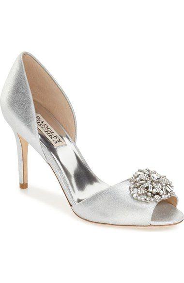 BADGLEY MISCHKA 'Dana' Crystal Embellished D'Orsay Pump (Women). #badgleymischka #shoes #pumps