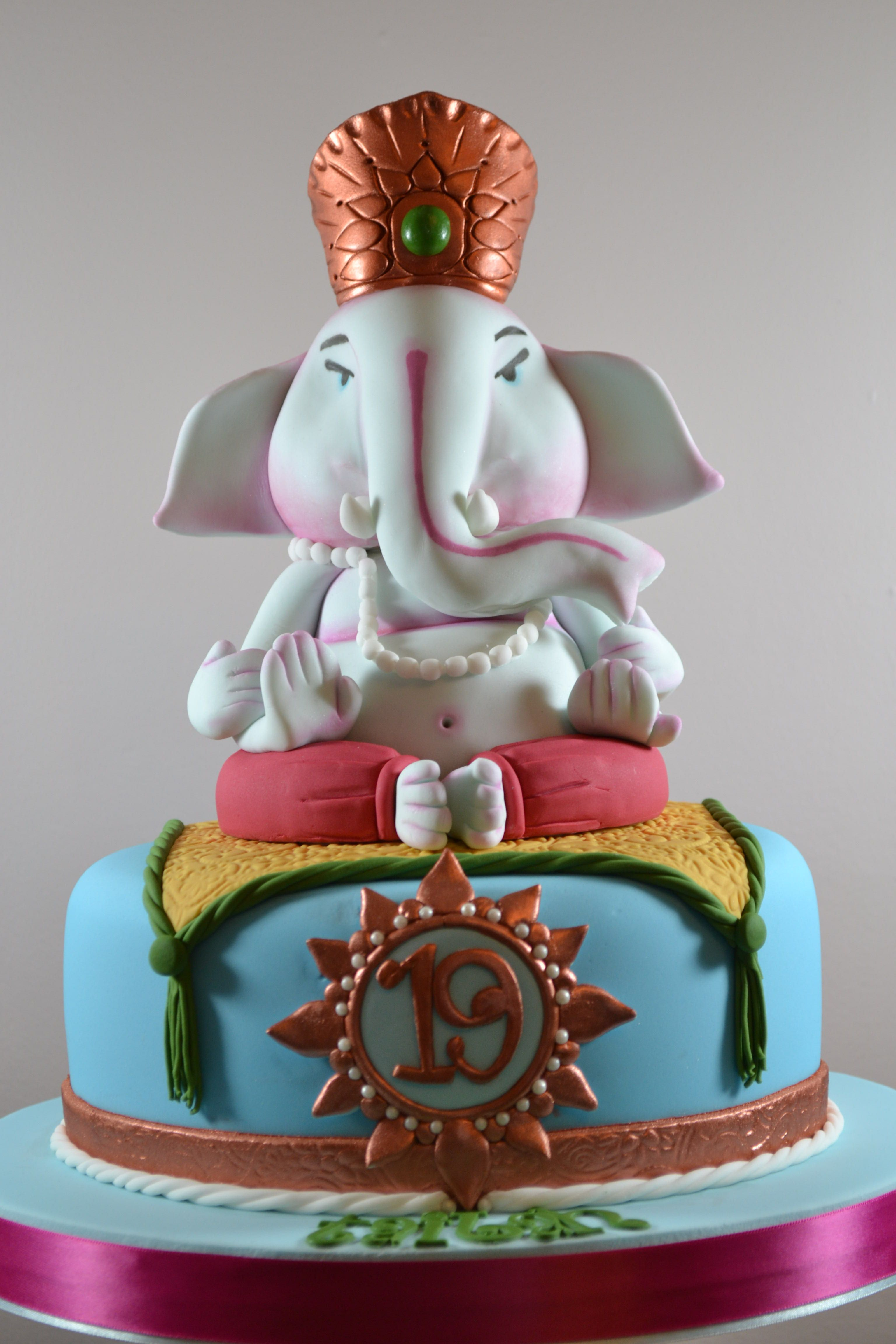 Ganesh Birthday Cake Cupcakes Cakes Pinterest Ganesh