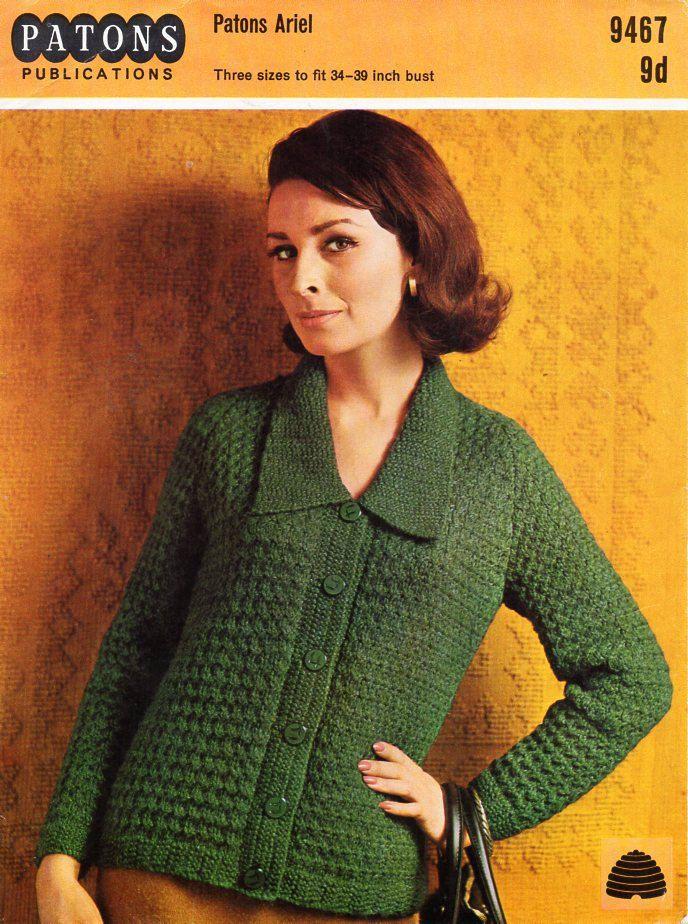 womens jacket knitting pattern pdf chunky ladies cardigan with ...