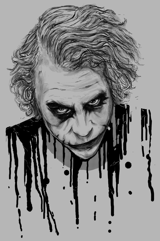 The Joker Canvas Wall Art By Nicebleed Joker Art Drawing Joker