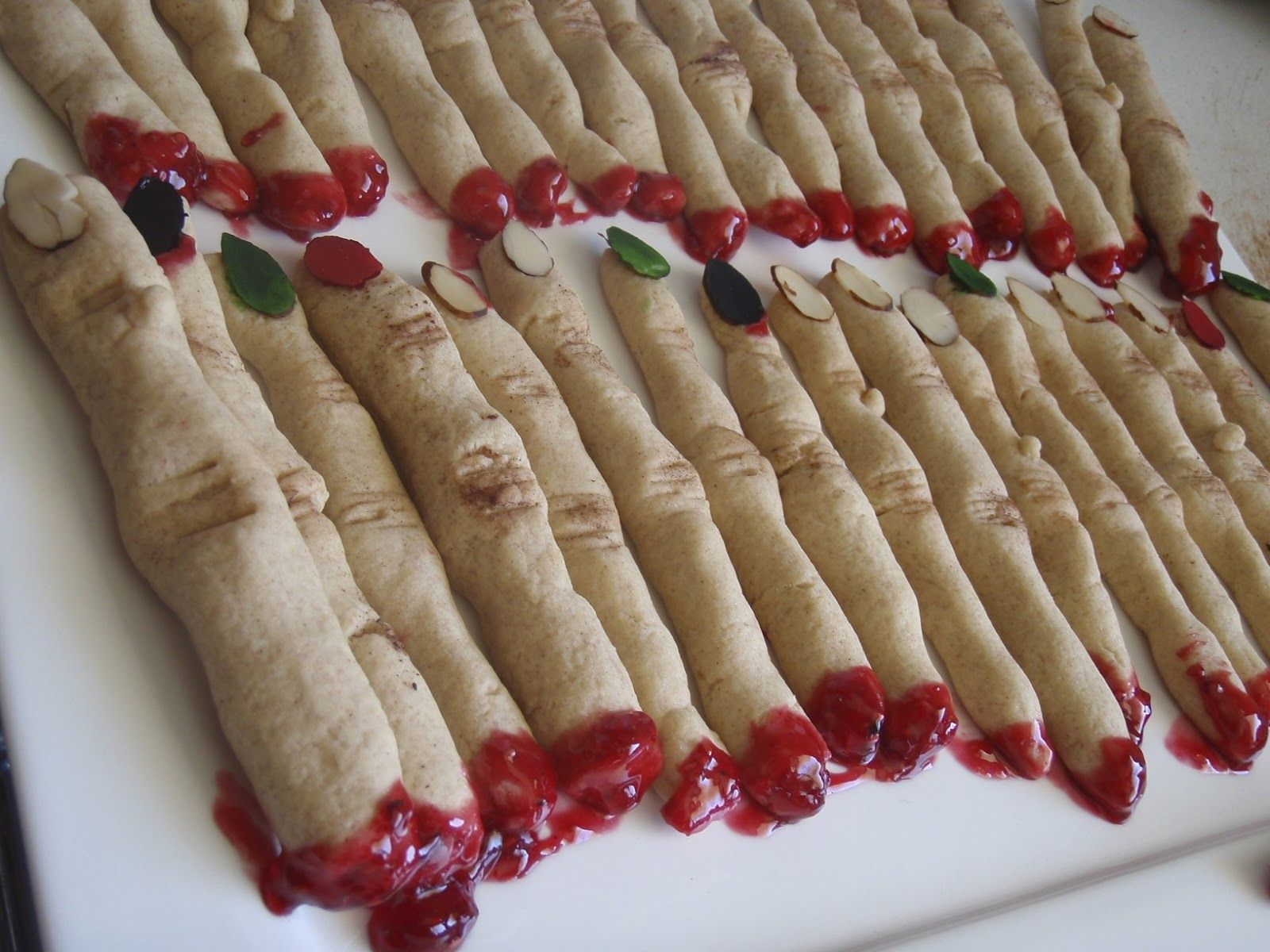 severed witch finger cookies for halloween. giada at home