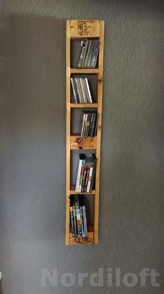 palettenm bel paletten cd und dvd regal von nordiloft auf pinterest. Black Bedroom Furniture Sets. Home Design Ideas