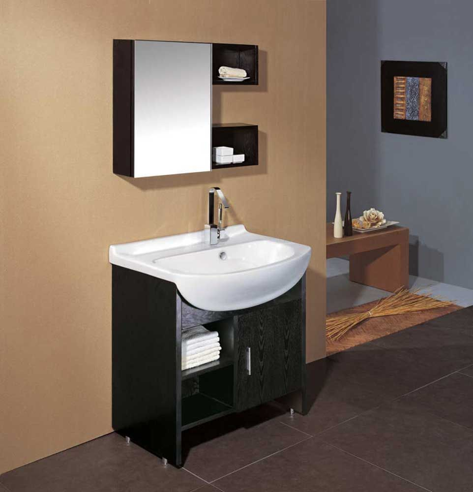 Corner Bathroom Sink Vanity Furniture Interior Ceramik Round Vessel Style Ikea With Black Cabinet And White Front Wall Mounted
