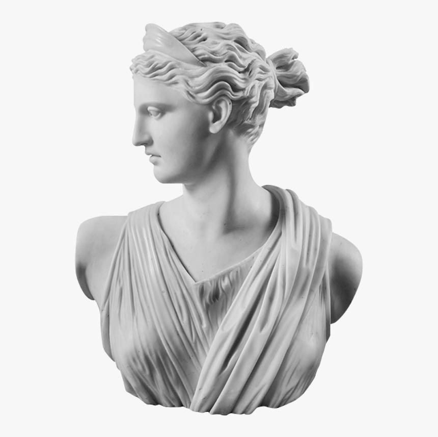 Image Of Statue Head Of Artemis Diana Greek Roman Goddess Humanity 2 0 Hd Png Download Greek Goddess Statue Goddess Sculpture Greek Mythology Statue