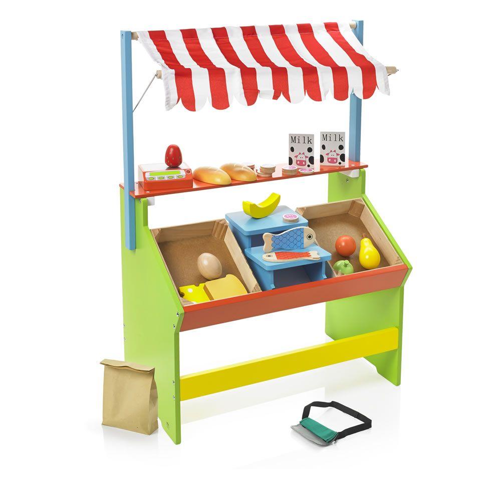 Wilko Play Wooden Market Stall. Wilko Play Wooden Market Stall   Gift Ideas for the children
