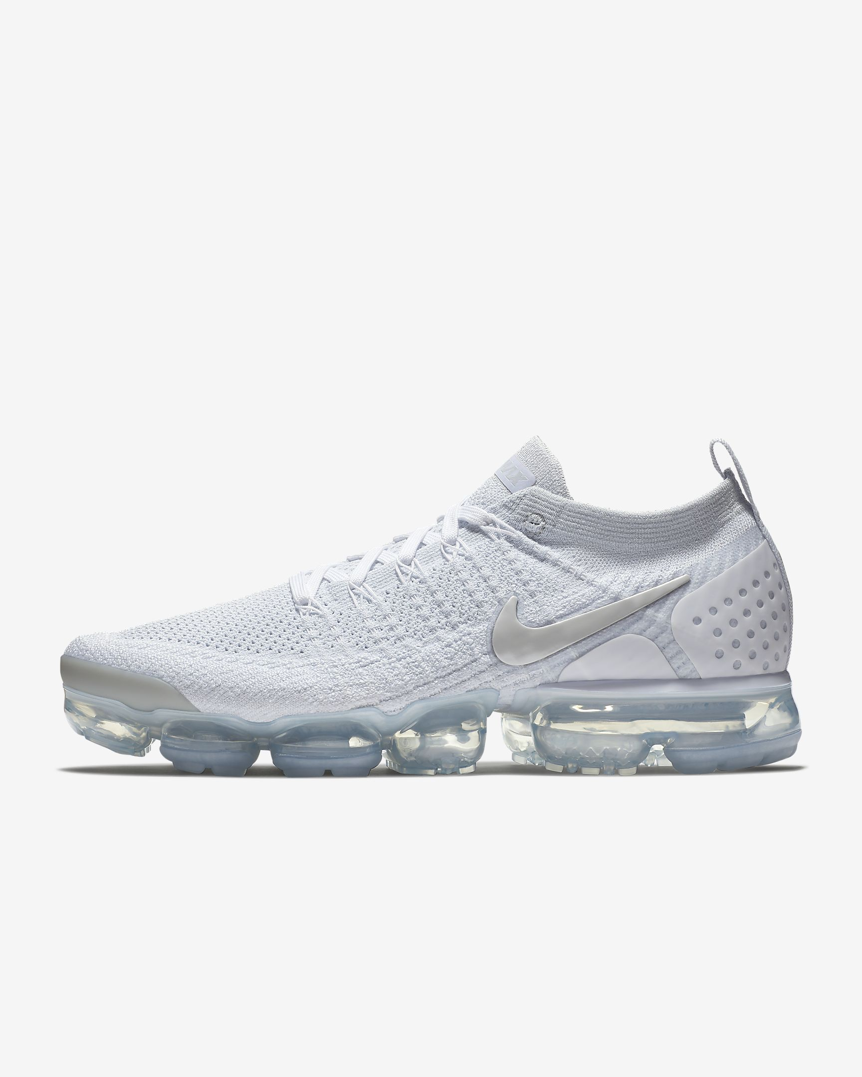 f9bee685a7abe Nike Air VaporMax Flyknit 2 Mens White Vast Grey Football Grey Trainers