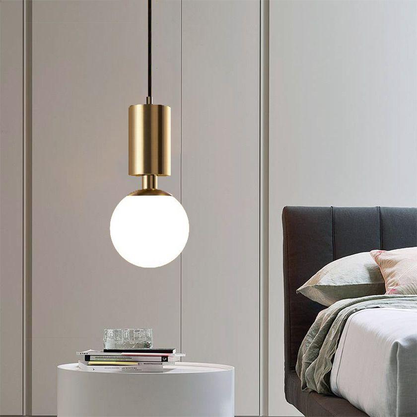 Nordic Aluminum Pendant Light Modern Simple Bedroom Bedside Table Lamp Small Pendant Lamp In 2020 Pendant Lamps Bedroom Pendent Lights Bedroom Bedside Pendant Lights