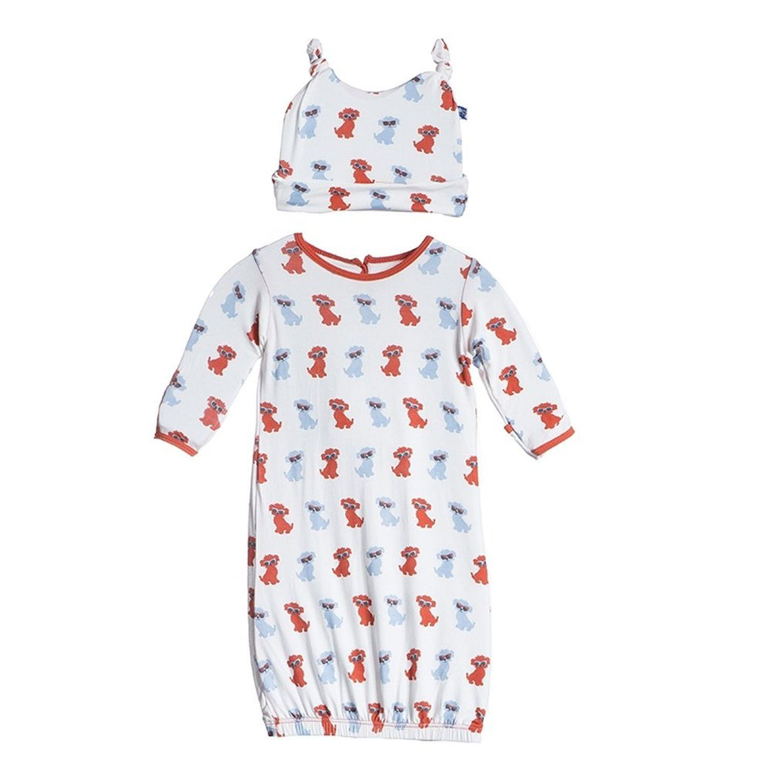 Kickee Pants Beach Layette Gown and Hat | Worldwide Style for Your ...
