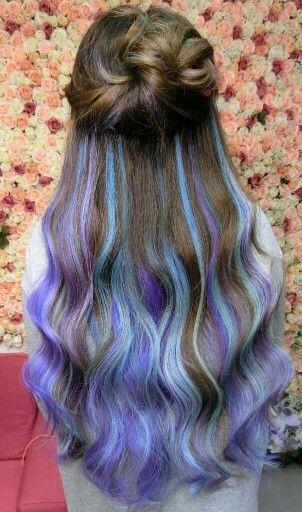 blue dyed hair & pastel