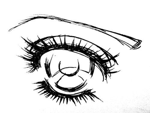 How to draw a sparkly shoujo manga eye