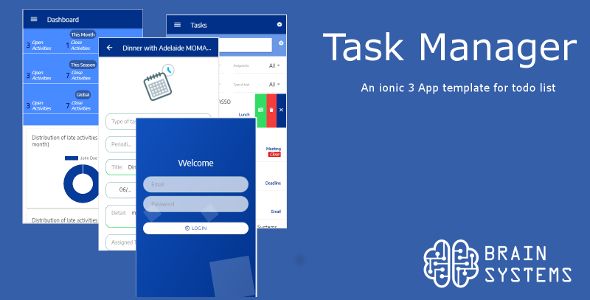 Task Manager - Ionic 3 App Theme Nulled | Nulled Wordpress Themes