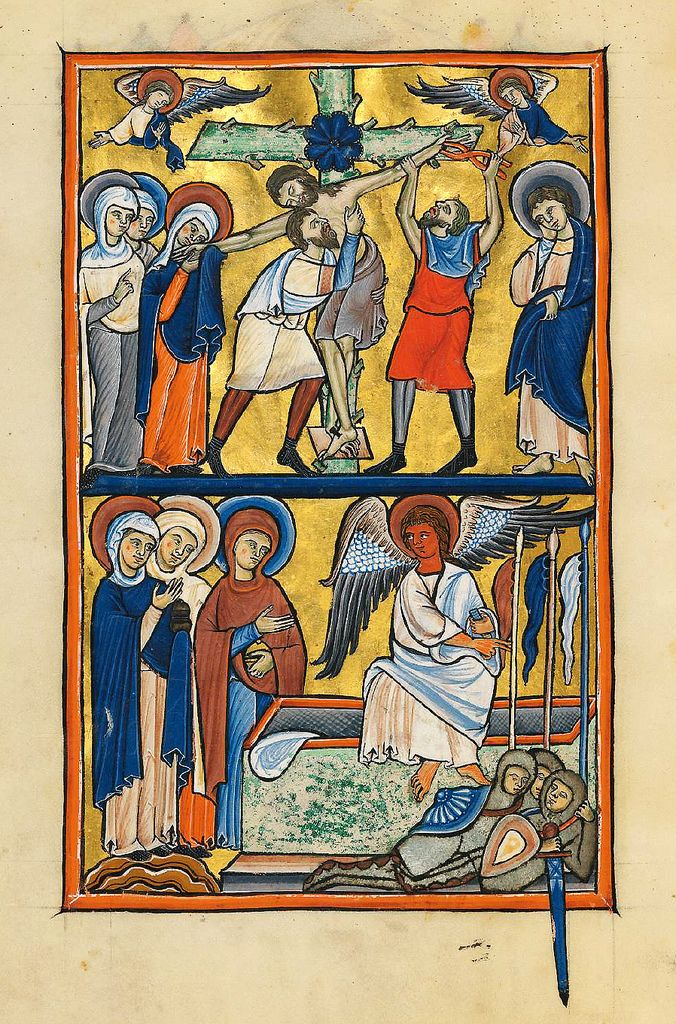 Christ taken down from the cross, from the Múnich Psalter, 1200-1225