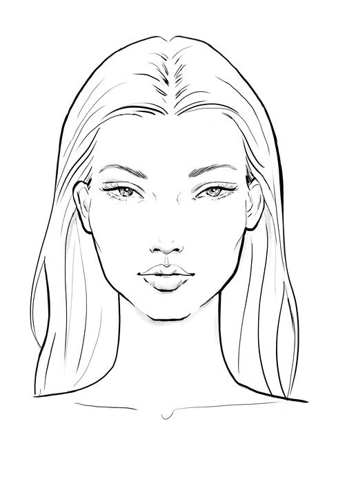Face Sketches Template