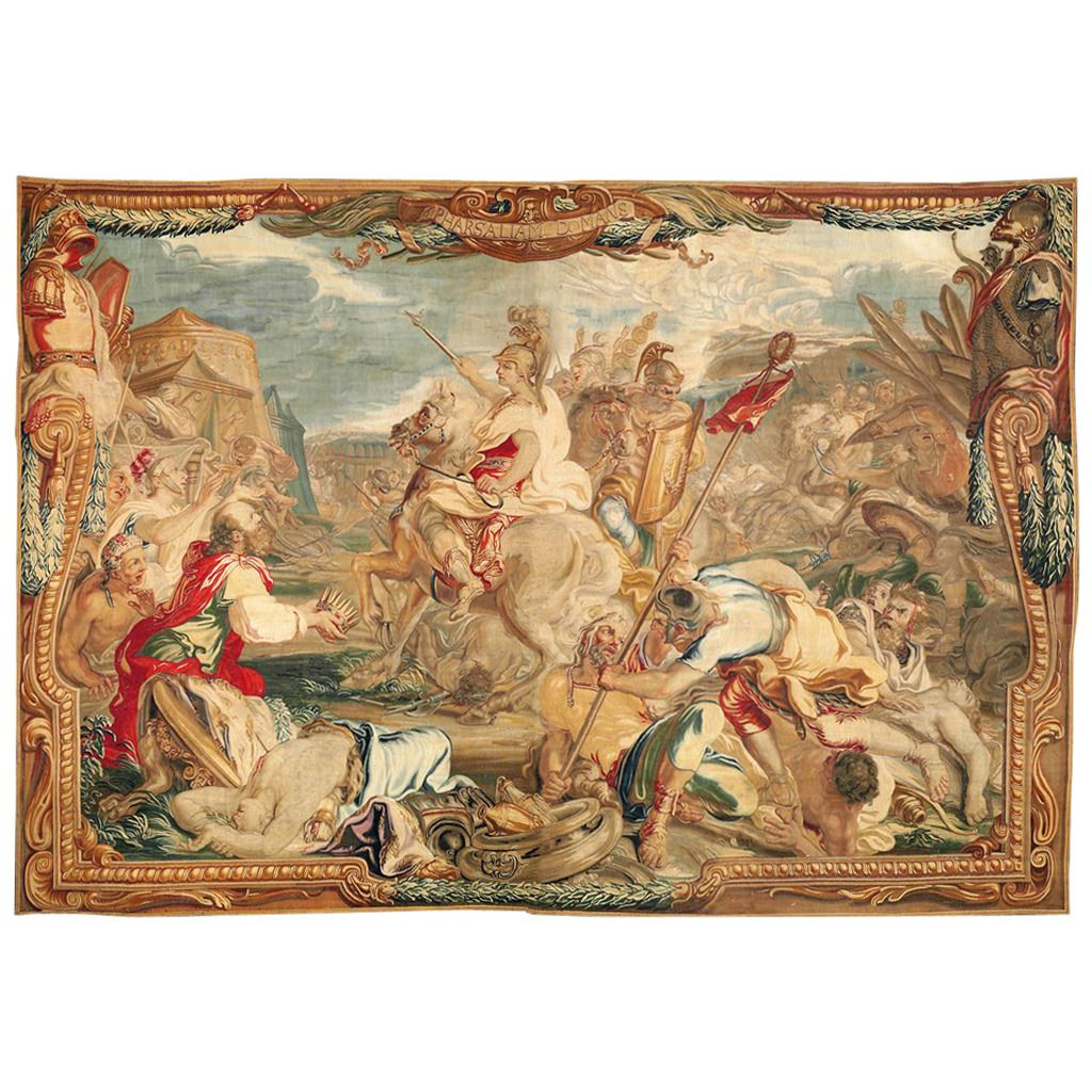 17th Century Tapestry, The Victory Of Pharsalus In 2019
