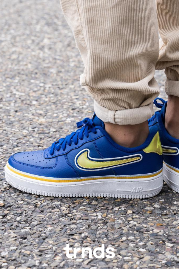 Nike Air Force 1 '07 LV8 Sport Blue and Yellow for men