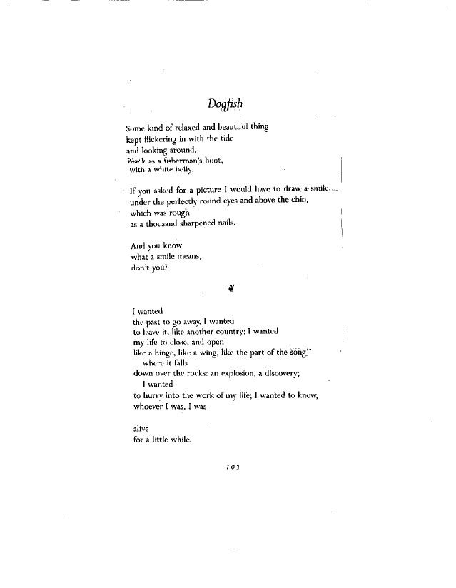 brand new 6a53b a69b7 Mary Oliver - Dogfish page 1 | Mary Oliver | Words, Mary ...