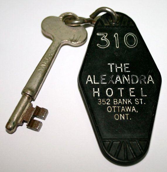 Vintage Hotel Skeleton Key from Alexandra Hotel by nastybuttons