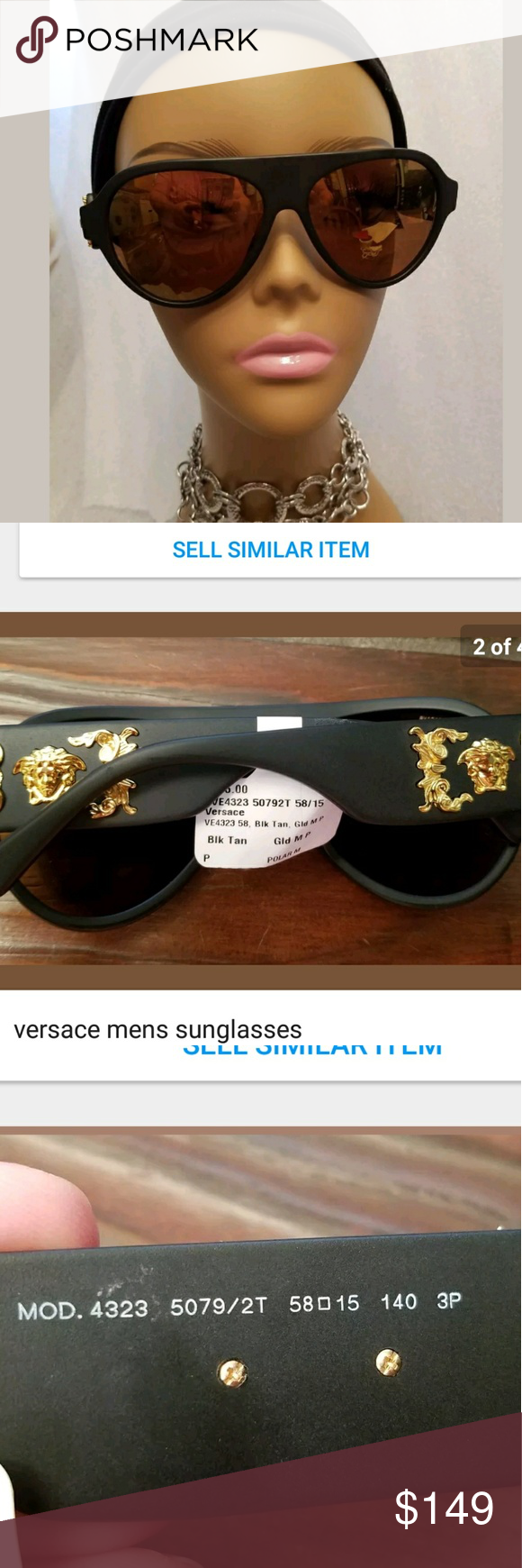 Versace Polarized Sunglasses