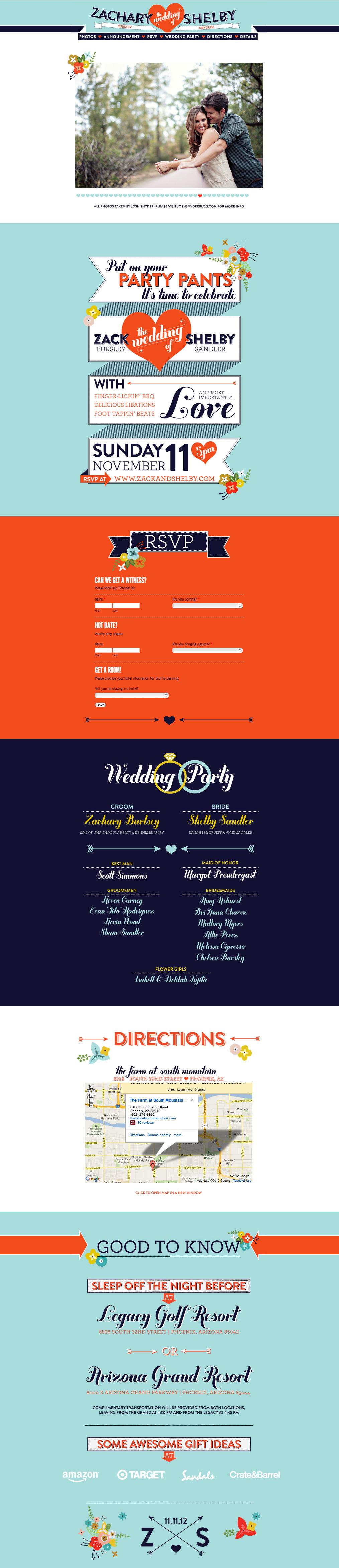Zack & Shelby wedding website | Wedding Websites | Pinterest ...