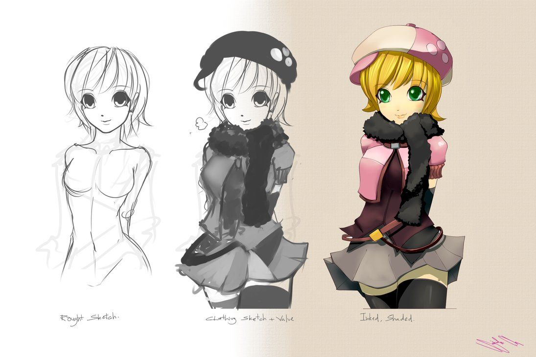 Anime Character Design Sketch : Character designing anime design by gumustdo