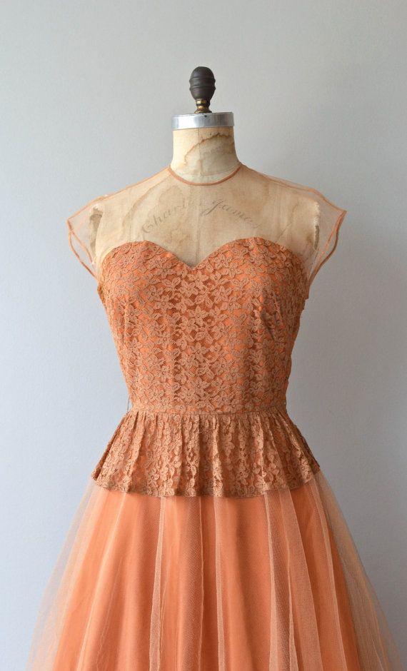 Portmanteau dress vintage 1940s dress 40s lace by DearGolden