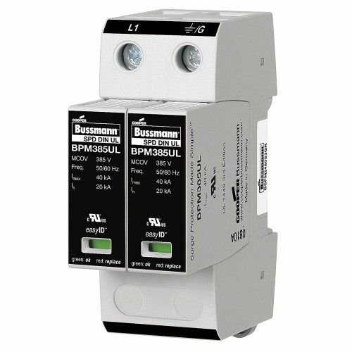 Bussmann 1 Phase Surge Protection Device 120 240vac Bspm2240s3gr Surge Protection Remote Surge Protectors