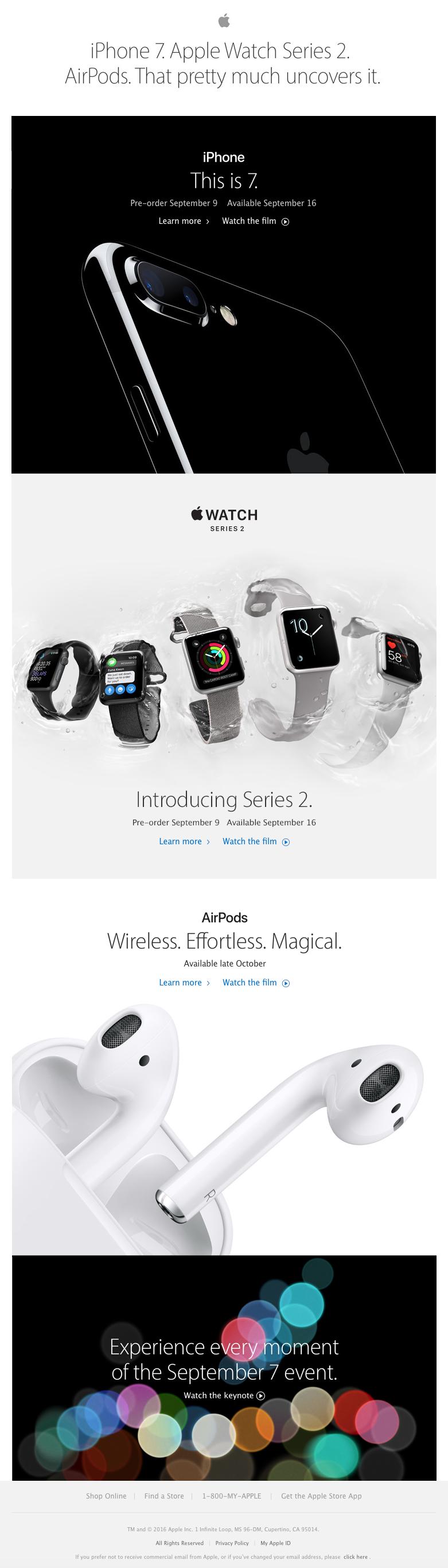Beautiful email design from Apple | Medical Meta | Pinterest ...
