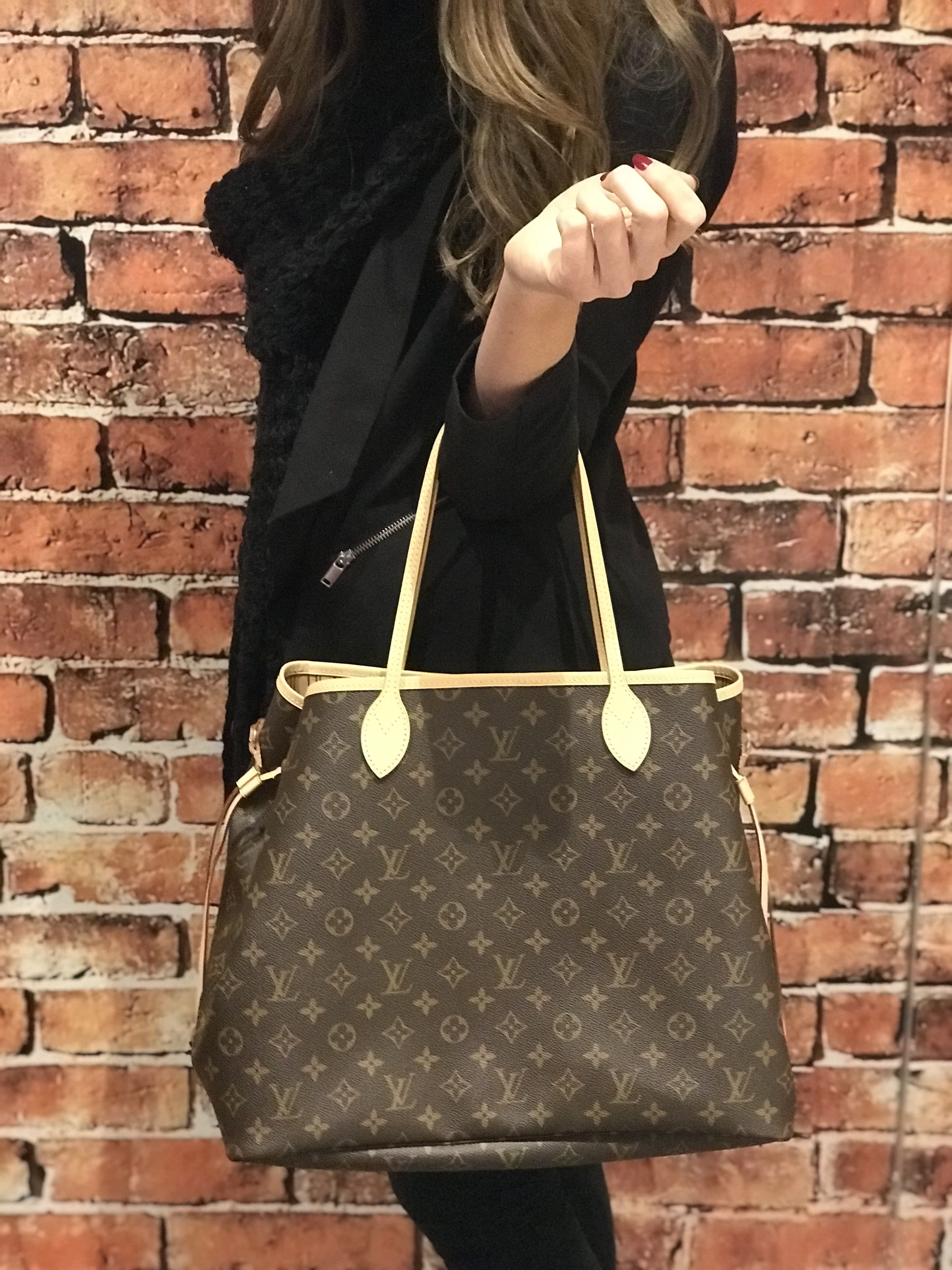 43e26a20b2f7 Louis Vuitton Neverfull GM monogram canvas handbag with removable zip  clutch   matching lining - match a big