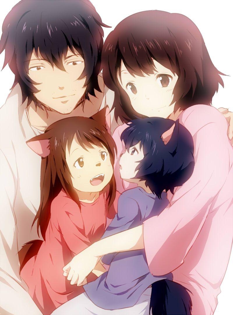ame y yuki los niños lobo ♥ | Anime | Pinterest | Niños lobo, La ...