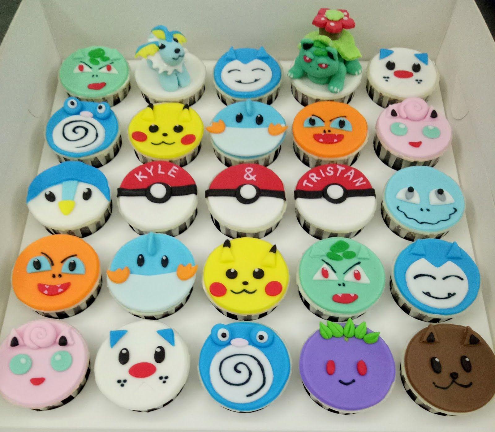 Jenn Cupcakes Muffins Pokemon Cupcakes Pokémon Pokemon