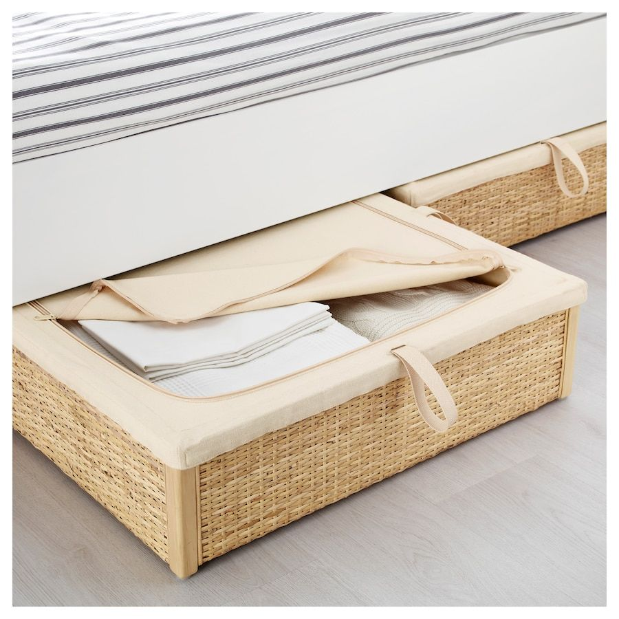 IKEA ROMSKOG Rattan Underbed Storage Box