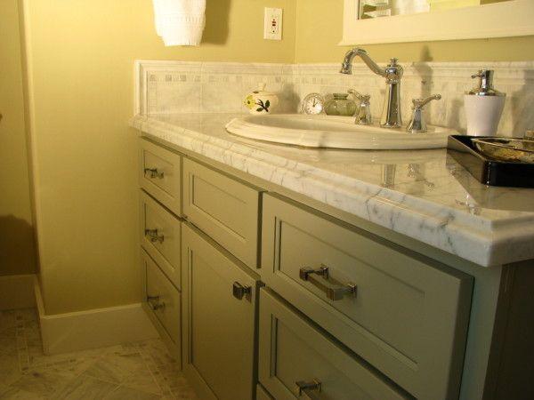 Decoration Terrific Replace Bathroom Vanity Top Using White - Marble slab for bathroom vanity