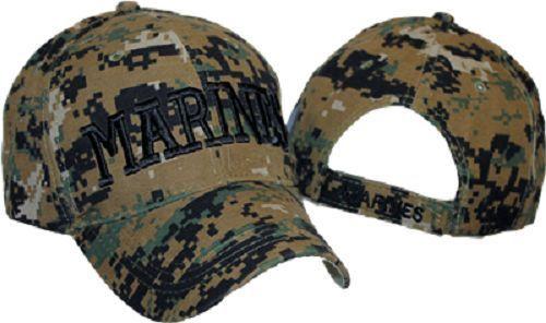 78696515 LICENSED USA USMC MARINE CORPS MARINES CAP / HAT - MARPAT ACU CAMO Cap Hat  #ad