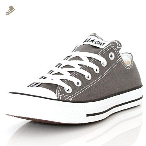 Unisex Chuck Taylor All Star Low Top Negro Monochrome Sneakers - 8 hombres 10 mujeres 7QkdX9B