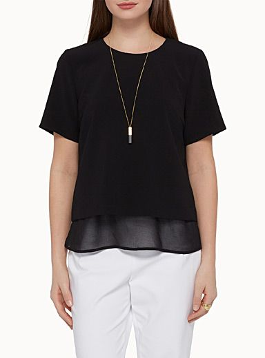 Exclusivité Contemporaine Une blouse raffinée à agencer avec nos ...