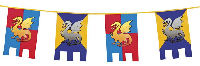 6m Knights And Dragons Medieval Kids Party Decoration Party Flags Castle Bunting Medieval Party Kids Party Decorations Knight Party