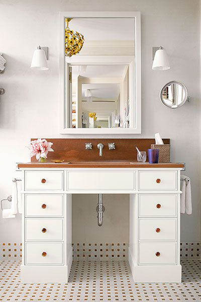 Used Bathroom Vanity Cabinets White Mdf Bathroom Cabinet: 19 Budget–Smart Bath Updates