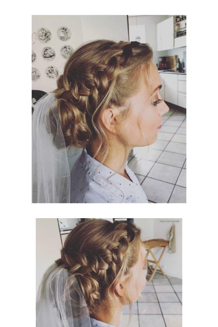 Romantisk Brudestyling Frisure Brudehar Stylist