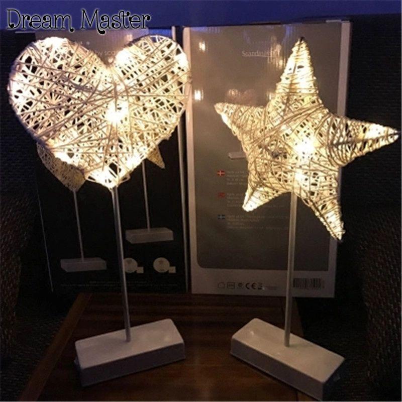 Led Light Ins Lights Girl Heart Room Decoration Lamp Hand Love Star Lamp Battery Postage Free Affiliate Star Lamp Night Light Heart Lights