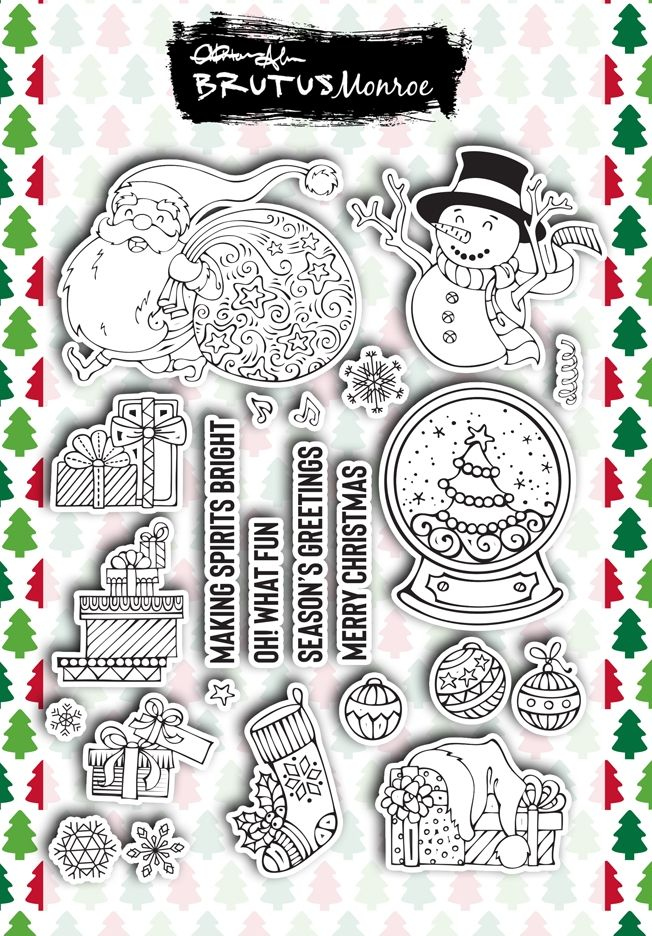 Brutus Monroe HOLIDAY ESSENTIALS Clear Stamps