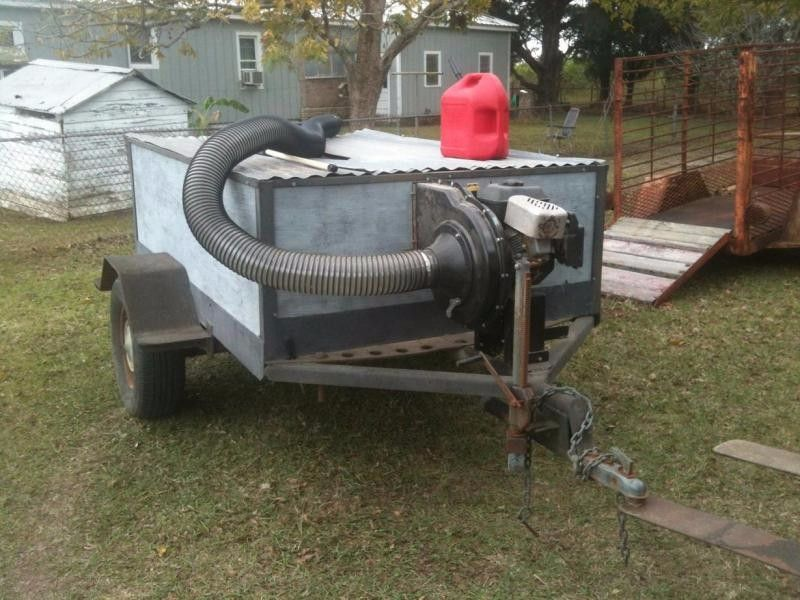 Leaf Vacuum By Mudhog Homemade Leaf Vacuum Powered By A 205cc Engine Constructed From A Surplus Trailer Garden Tool Storage Garden Tool Rack Garden Tools